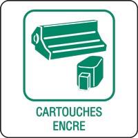 Panneau déchetterie cartouches encre