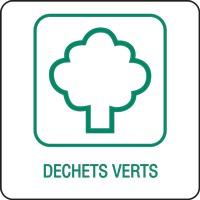 Panneau déchetterie déchets verts