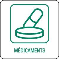 Panneau déchetterie médicaments