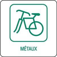 Panneau déchetterie métaux