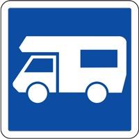 Panneau de signalisation camping car (modèle 2)
