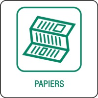 Panneau déchetterie papiers