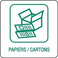 Panneau déchetterie papiers cartons