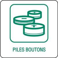 Panneau déchetterie piles boutons