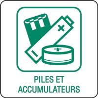 Panneau déchetterie piles et accumulateurs