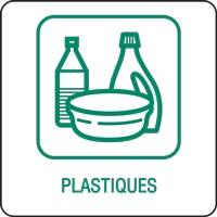 Panneau déchetterie plastiques