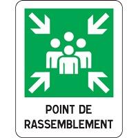 Panneau point de rassemblement (modèle 3)
