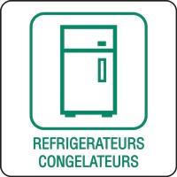 Panneau déchetterie réfrigérateurs congélateurs