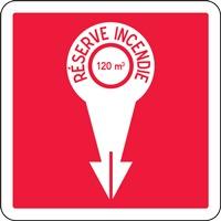 Panneau de signalisation réserve incendie