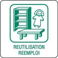 Panneau déchetterie réutilisation réemploi