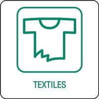 Panneau déchetterie textiles