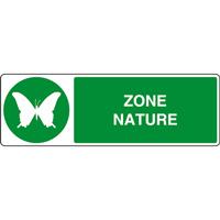 Panneau horizontal zone nature papillon