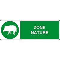 Panneau horizontal zone nature sanglier