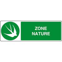 Panneau horizontal zone nature hirondelle