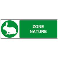 Panneau horizontal zone nature lapin