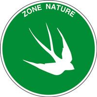 Panneau rond zone nature hirondelle