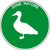 Panneau rond zone nature canard