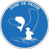Panneau rond zone de pêche