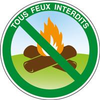 Panneau rond tous feux interdits