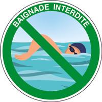 Panneau rond baignade interdite