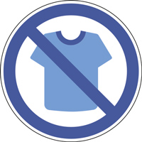 Panneau tee-shirt interdit
