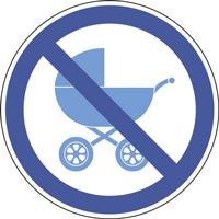 Panneau poussette interdite
