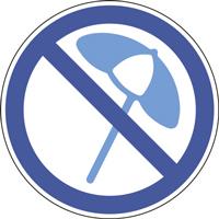 Panneau parasol interdit