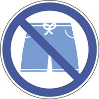 Panneau short de bain interdit