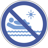 Panneau matelas gonflable interdit