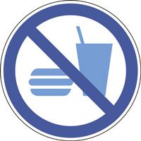 Pannneau interdiction de manger et de boire