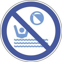 Panneau jeux de ballons interdits