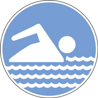 Panneau espace de baignade