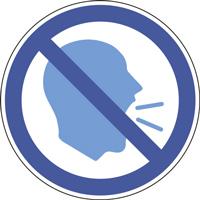 Panneau interdiction de crier