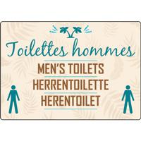 Panneau camping toilettes hommes