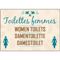 Panneau camping toilettes femmes