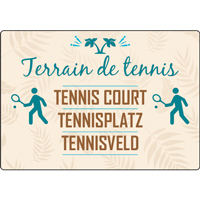 Panneau camping terrain de tennis