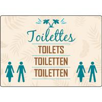 Panneau camping toilettes