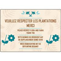 Panneau camping respect des plantations
