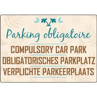 Panneau camping parking obligatoire