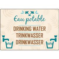 Panneau camping eau potable