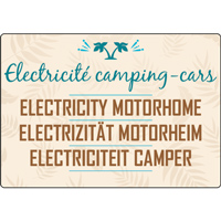 Panneau camping électricité camping-cars