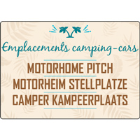 Panneau camping emplacements camping-cars