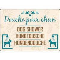 Panneau camping douche pour chien
