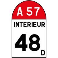 Borne kilométrique pour route et autoroute E52a