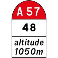 Borne kilométrique pour route et autoroute E52b