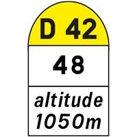 Borne kilométrique départementale E53b