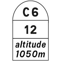 Borne kilométrique communale E54b