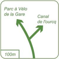 Panneau piste cyclable Dv42a