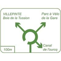 Panneau piste cyclable carrefour sens giratoire Dv42b
