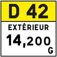 Plaquette de repérage hectométrique E53c
